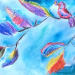 Акварель, птицы